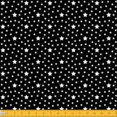 Tecido Tricoline Estampado Estrelas Fundo Preto 1229v104