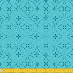 Tecido Tricoline Estampado Entrelinhas Tiffany Must Have 1234v07