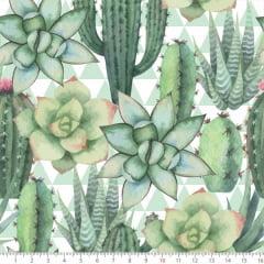 Tecido Tricoline Estampado Floral com Espinhos 8056v01