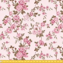 Tecido Tricoline Estampado Floral Delicado 6025v02