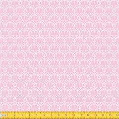 Tecido Tricoline Estampado Floral Fundo Rosa 1650v081
