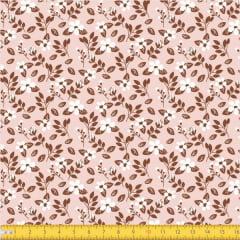 Tecido Tricoline Estampado Floral Miúdo 2008v01