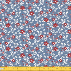 Tecido Tricoline Estampado Floral Miúdo 2008v06