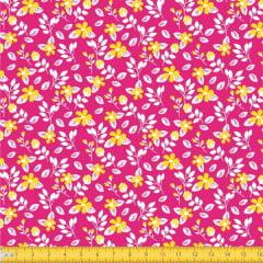 Tecido Tricoline Estampado Floral Miúdo 2008v09