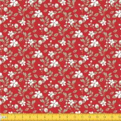 Tecido Tricoline Estampado Floral Miúdo 2008v10