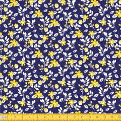 Tecido Tricoline Estampado Floral Miúdo 2008v11