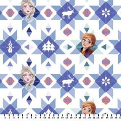 Tecido Tricoline Digital Estampado Frozen Elsa e Anna - Fernando Maluhy FR004C01