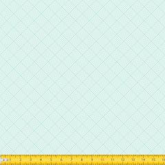 Tecido Tricoline Estampado Geométrico Trançado Verde Claro 1186v083