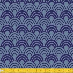 Tecido Tricoline Estampado Horizonte Azul Must Have 1243v02