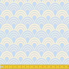 Tecido Tricoline Estampado Horizonte Azul Bebê 1243v10
