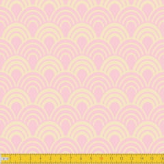 Tecido Tricoline Estampado Horizonte Rosa Must Have 1243v09