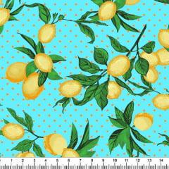 Tecido Tricoline Estampado Limão Siciliano 5343-5