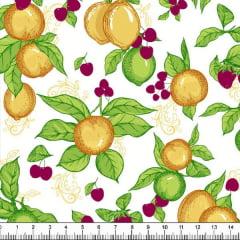 Tecido Tricoline Estampado Limão 6425v01