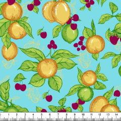 Tecido Tricoline Estampado Limão 6425v03