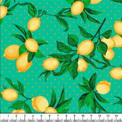 Tecido Tricoline Estampado Limão Siciliano 5343-3