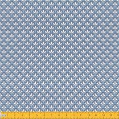 Tecido Tricoline Estampado Mini Floral Lírio Real Fundo Azul 1195v131
