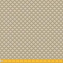 Tecido Tricoline Estampado Mini Floral Lírio Real Fundo Bege 1195v201