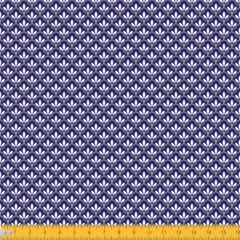 Tecido Tricoline Estampado Mini Floral Lírio Real Fundo Marinho 1195v605