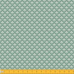 Tecido Tricoline Estampado Mini Floral Lírio Real Fundo Verde 1195v129
