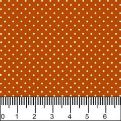 Tecido Tricoline Estampado Mini Micro Bolinhas Brancas Fundo Ocre 1002v149