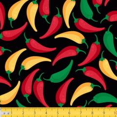 Tecido Tricoline Estampado Pimentas 7116v01