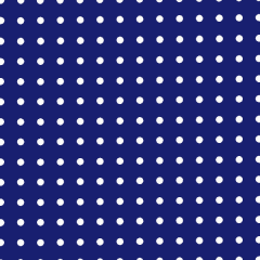 Tecido Tricoline Estampado Poá Micro Branco Fundo Azul Royal 2208v04