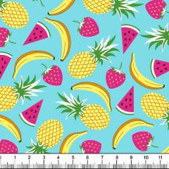 Tecido Tricoline Estampado Salada de Frutas 6359v05