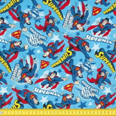 Tecido Tricoline Estampado Superman 23316