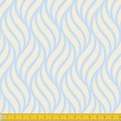 Tecido Tricoline Estampado Tramas Azul Bebê Must Have  1258v10