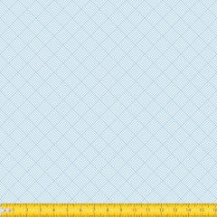 Tecido tricoline Estampado Geométrico Trançado Azul Claro 1186v82