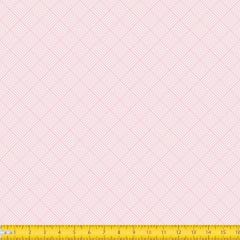 Tecido tricoline Estampado GeométricoTrançado Rosa Bebe 1186v081