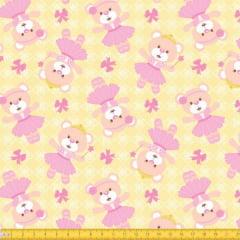 Tecido Tricoline Estampado Ursa Princesa 6076v01