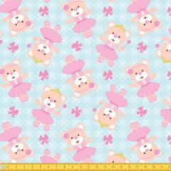 Tecido Tricoline Estampado Ursa Princesa 6076v02