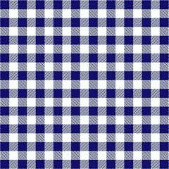 Tecido Tricoline Estampado Xadrez Azul e Branco 2213vr3