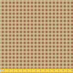 Tecido Tricoline Estampado Xadrez Pequeno Bege 1552v04