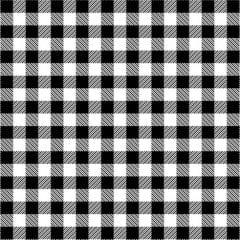Tecido Tricoline Estampado Xadrez Preto com Branco 2213vr4