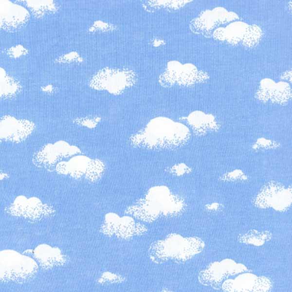 Tricoline Mista Nuvens Brancas Fundo Azul 16002v01