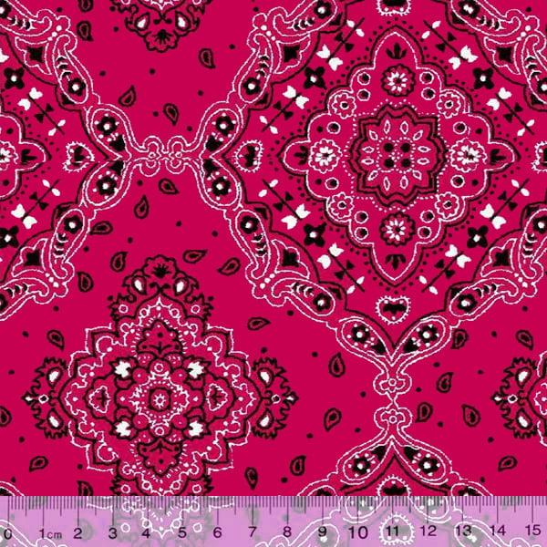 Tecido Tricoline Bandana Pink 2272-8
