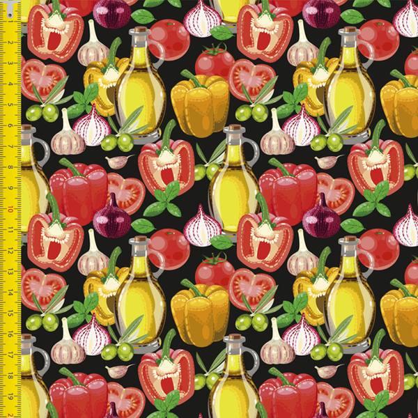 Tecido Tricoline Digital Estampado  Legumes 9100e1357
