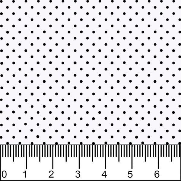 Tecido Tricoline Estampado Bolinha Mini Micro Preta Fundo Branco 1002v103