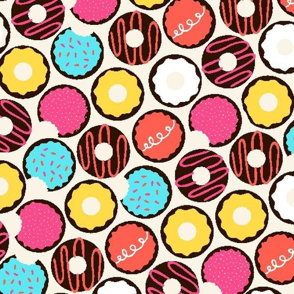 Tecido Tricoline Estampado Donuts Decorados 3371