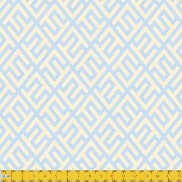Tecido Tricoline Estampado Elegance Azul Bebê Must Have 1240v10