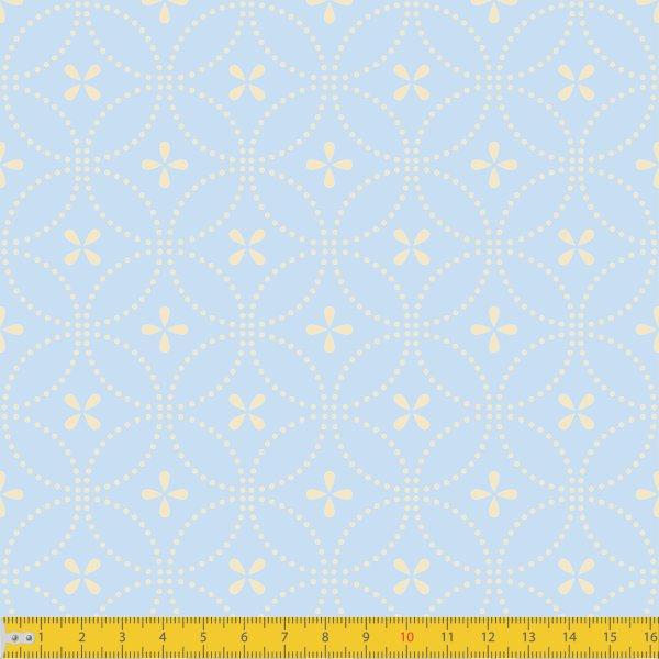 Tecido Tricoline Estampado Entrelinhas Azul Bebê Must Have 1234v10