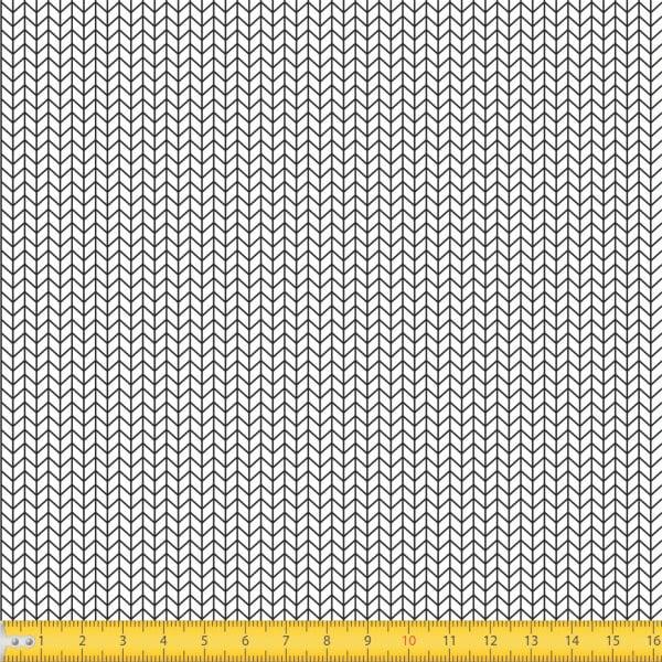Tecido Tricoline Estampado Geometrico Branco 1216v103