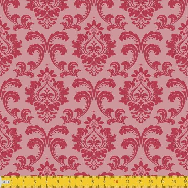 Tecido Tricoline Estampado Realeza Rose Must Have 1254v01