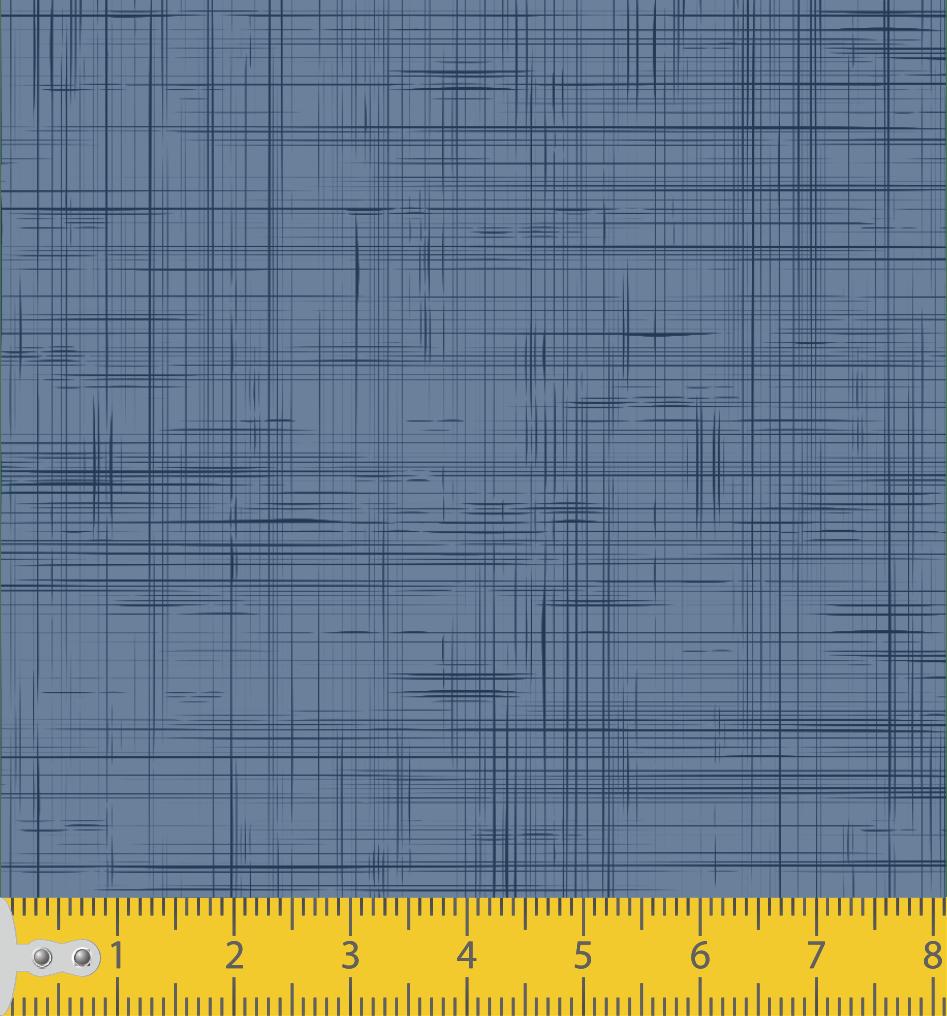 Tecido Tricoline Estampado Textura Azul 1292v004