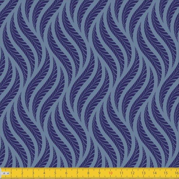 Tecido Tricoline Estampado Tramas Azul Must Have 1258v02