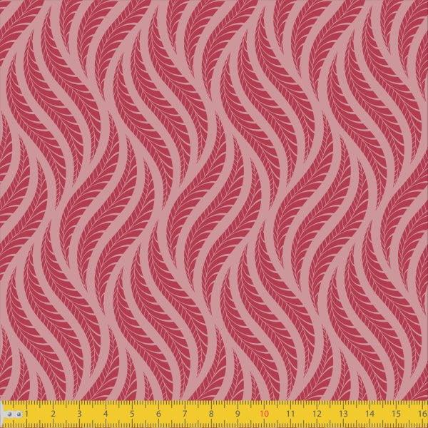 Tecido Tricoline Estampado Tramas Rose Must Have  1258v01