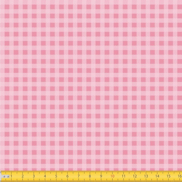 Tecido Tricoline Estampado Xadrez Pequeno Rosa 1552v03